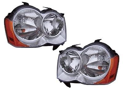 Jeep Grand Cherokee Halogen-Type Headlights Headlamps Pair New Set