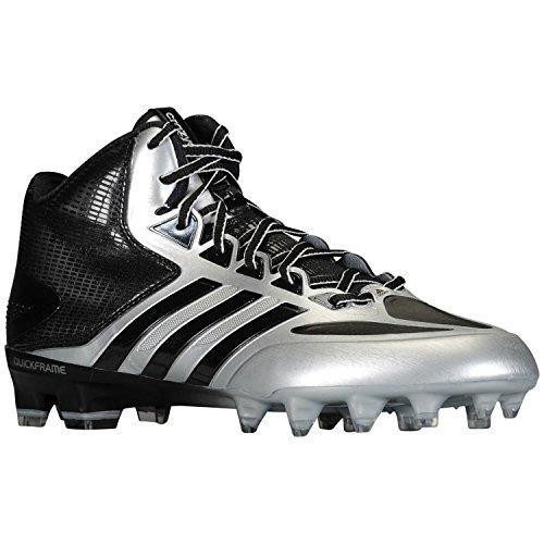 Adidas Mannen Crazyquick Mid Voetbal Klampen (10,5, Platinum / Zwart / Titanium)