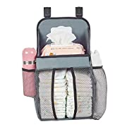 Playard Nursery Organizer and Baby Diapers Caddy, Hanging on All Playards for Baby's Essentials by FATA FAMA (Small)