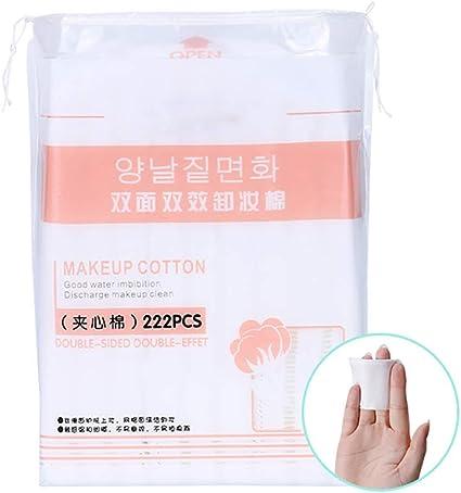 Beito 1Pack Almohadillas de algodón premium Desmaquillante Desmaquillante Algodón Sin desgarro Sin pelusa Biodegradable Maquillaje Algodón Para uñas cosméticas Cuidado diario de la piel (222): Amazon.es: Belleza