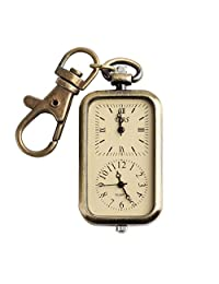 Yesfashion Classical Antique Quartz Analog Watch Pocket Key Chain Watch