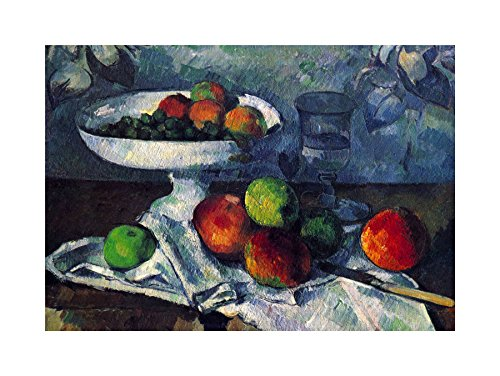 PAINTING CEZANNE STILL LIFE WITH FRUIT BOWL PRINT F12X5176