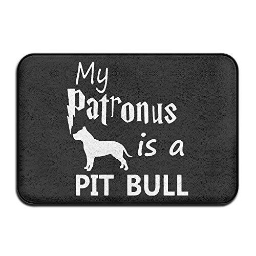 My Patronus Is A Pit Bull Indoor Super Absorbs Mud Doormat Non Slip Door Mat For Front Door 16