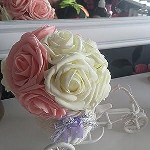 10Pcs Artificial Rose Flowers Head Party Wedding Bridal Bouquet Home Decoration Black 4