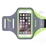 "Triomph Sports Running Armband for iPhone 6 6S iPhone 7 5"" Samsung GalaxyS6 S6 Edge S5 with Screen Protector and Key Cards Money Holder,for Jogging,Hiking,Biking,Walking Arm Band Case"
