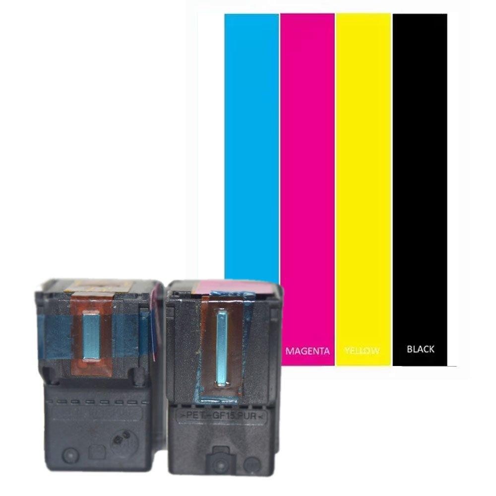 oyat® remanufacturados cartuchos de tinta para HP 301 XL 301 XL V1 negro y color juego de alta capacidad cartucho de tinta Envy 4507 e-AiO 4643 (1 ...