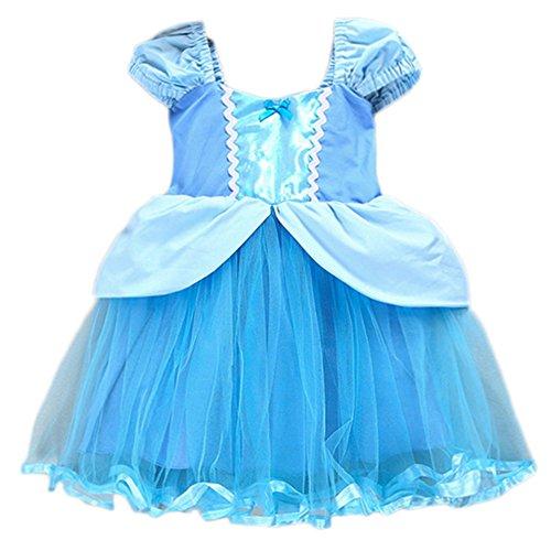 Cinderella Baby Dresses - JiaDuo Princess Cinderella Dress Rapunzel Costume Mermaid Dress Up Clothes for Baby Girls Blue 140