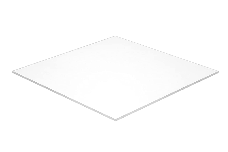 "Falken Design falkenacrylic_2447_118_12x60 Acrylic Sheet, Plastic/Plexiglas/Lucite, 12"" x 60-1/8"", White for sale"