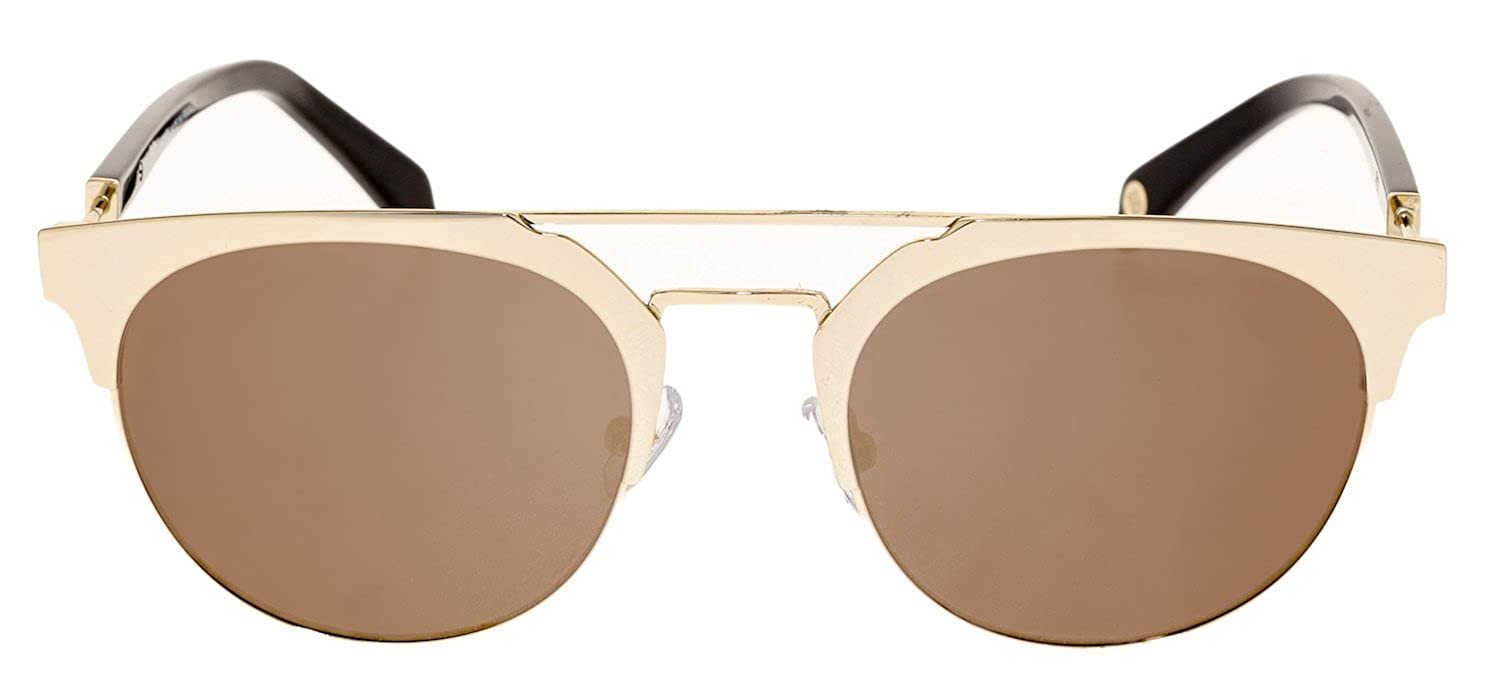 caebdefb4b Amazon.com  BALMAIN BL 2109 Black Gold Flash Mirror Clubmaster Metal  Sunglasses BL2109  Clothing