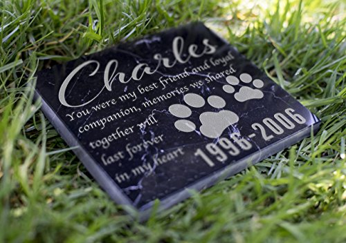 Memorial Pet Headstone - Loyal Companion - (Marble Grave Markers)