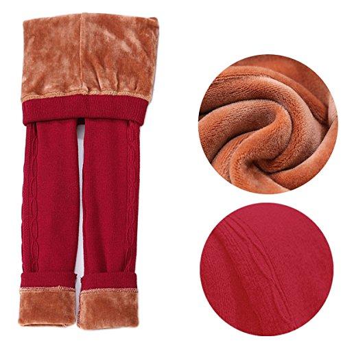 DCOIKO-Girls-Pants-Velvet-Skinny-Warm-Thick-Leggings-Fleece-Lined-Elastic-Waist-Knitting-Trousers