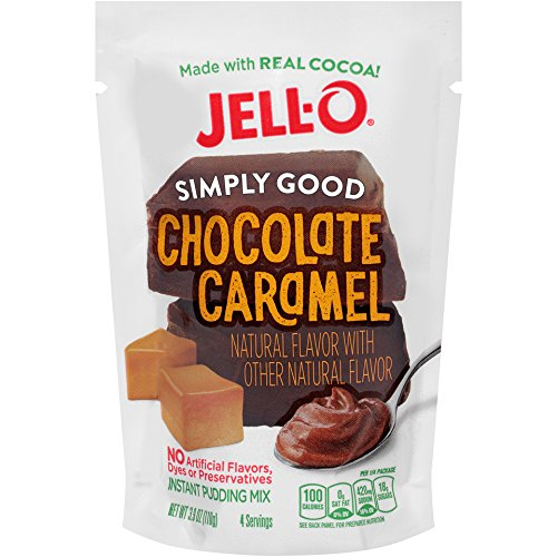 Jell O Simply Good Chocolate Caramel Instant Pudding Mix 3 9 Ounce Bag  Pack Of 12