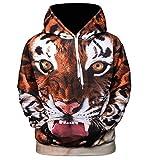 CieKen Men's 2018 Fashion Athletic Sweatshirts Animal Printed Hoodies