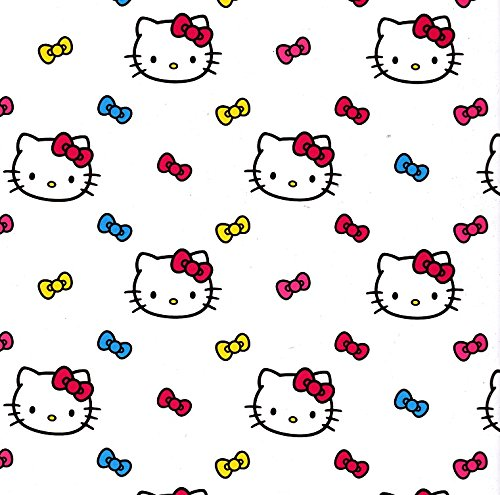 (12x12 Scrapbook Paper HELLO KITTY RIBBONS - 4 Sheets)