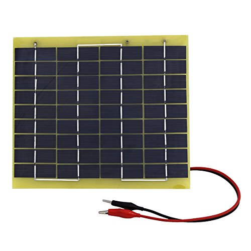 5 Watt Solar Panel Battery Charger - 8