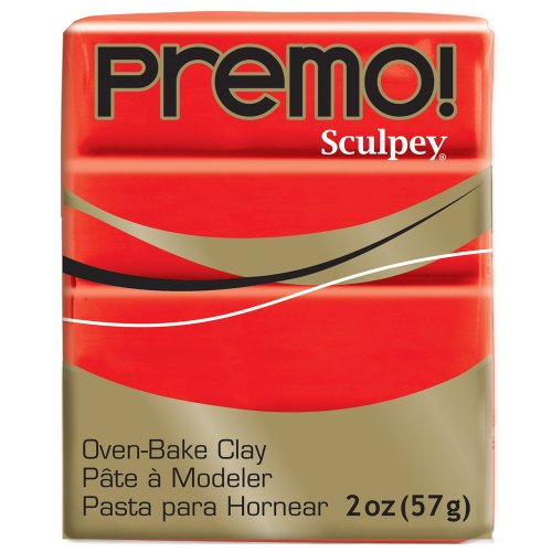Premo Sculpey Polymer Clay 2 Ounces-Cadmium (Red Polymer Clay)
