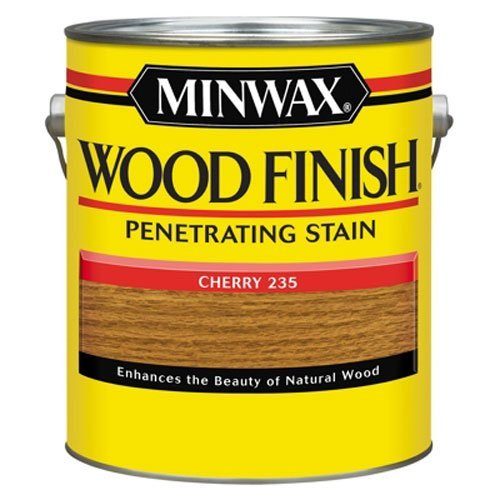 - Minwax 71009000 Wood Finish Penetrating Stain, gallon, Cherry