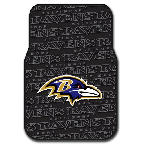 Ravens OFFICIAL National Football League, 25.5 x 17.5 Car Floor Mat Set (Pair of 2) by Northwest Official