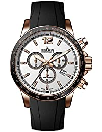 Men's Chronorally S 44mm Black Rubber Band Steel Case Swiss Quartz Analog Watch 10229 37RCA AIR