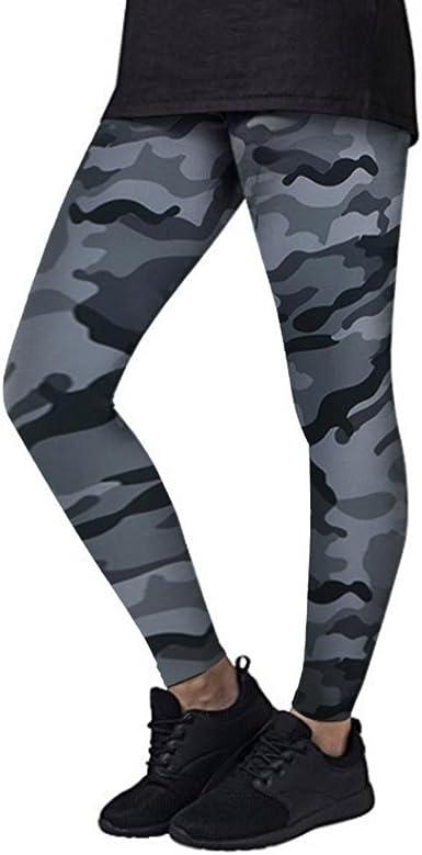 Angelof Legging Sport Militaire Femme Pantalon Yoga Camouflage Fille Pants Elastique Taille Haute sans Couture Jogging