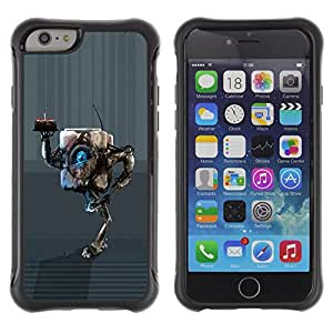 Be-Star único patrón Impacto Shock - Absorción y Anti-Arañazos Funda Carcasa Case Bumper Para Apple iPhone 6(4.7 inches) ( Cool Funny Birthday Cake Robot Cute )
