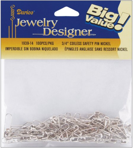 Coiless Safety Pins Nickel 100 product image