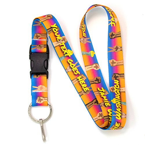 Sublimated Lanyard - Buttonsmith Solidarity Premium Custom Lanyard with Buckle and Flat Ring - Made in USA
