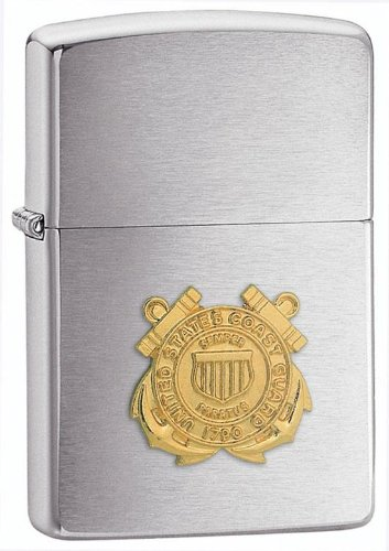 Personalized Coast Guard - Personalized U.S. Coast Guard Emblem Zippo Lighter - Free Engraving
