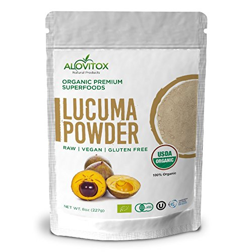 Lucuma Powder Superfood - Certified Organic, Raw, Pure and Healthy - Smoothie Natural Sweetener, Vegan, Gluten Free 8oz Pouch - Great in Yogurt, Smoothies, Ice Cream - By Alovitox
