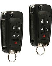 2 Key Fob fits 2010-2017 Buick Allure Encore Lacrosse Regal Verano/Chevy Camaro Cruze Equinox Impala Malibu Sonic/GMC Terrain Keyless Entry Remote Flip 2010 2011 2012 2013 2014 2015 2016 2017