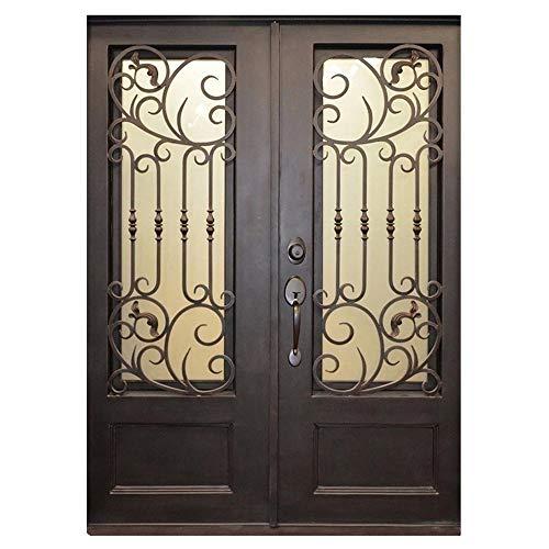 (Alexia 73.5x81 Flat Top Iron Door, Easy Clean)