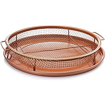 Amazon Com Gotham Steel Nonstick Copper Crisper Tray Air Fry In
