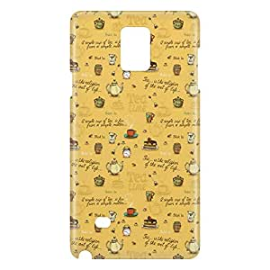 Loud Universe Samsung Galaxy Note 4 3D Wrap Around Tea Time Print Cover - Yellow