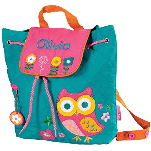 (Personalized Stephen Joseph Owl Quilted Backpack)