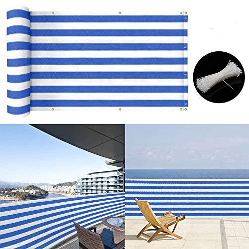 zimo Balcony Privacy Screen Windscreen Premium UV Shade Balcony Cover 3 15 Blue