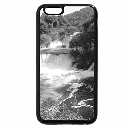 iPhone 6S Case, iPhone 6 Case (Black & White) - river Krka