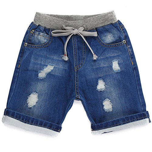 ARAUS Baby Knee Length Shorts Infant Elastic Waist Cotton Summer Casual Short Pants Clothes for Boys Girls 1-9 Years