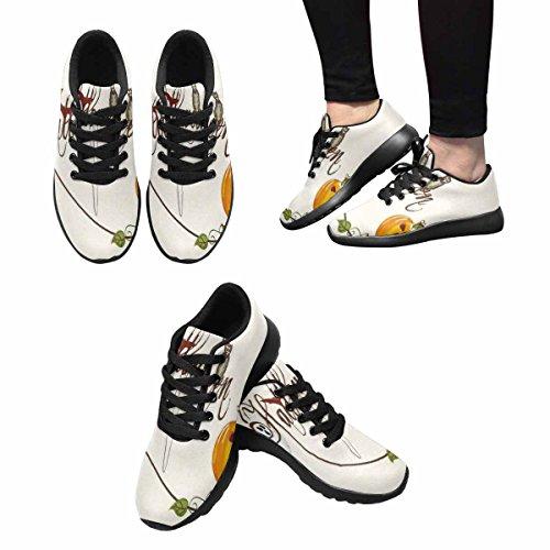Chaussures De Course De Trailprint Femmes Dintérêt Jogging Sports Légers Marchant Des Baskets Athlétiques Fête Dhalloween Avec Fantôme Traditionnel, Hibou Et Citrouille Effrayant Multi 1