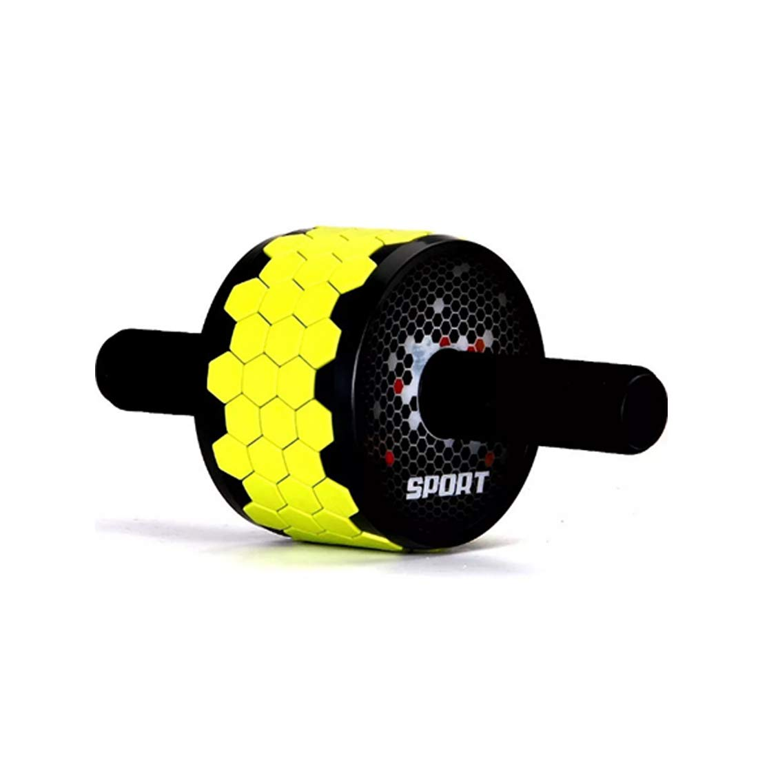 Sugoishop Wheel Roller Kit AB Roller Pro with Push-Up Bar, Jump Rope and Knee Pad Perfect Abdominal Core Carver Fitness Workout (Color : Black and Yellow)