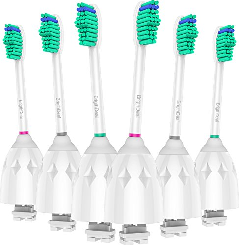 Brightdeal Replacement Brush Heads for Philips Sonicare Toothbrush E Series HX7022/66, Essence, Xtreme, Elite and Advance (6-pack) by Brightdeal (Image #1)