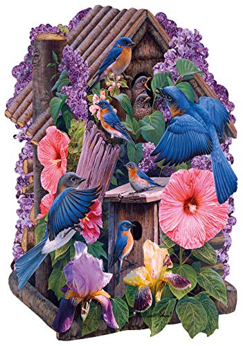 230pc Wentworth Wooden Jigsaw Puzzles - Blue Birds (Shaped ()