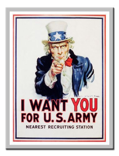 - Iposters Us Army James Montgomery Flagg 1917 War Print Magnetic Memo Board Silver Framed - 41 X 31 Cms (approx 16 X 12 Inches)