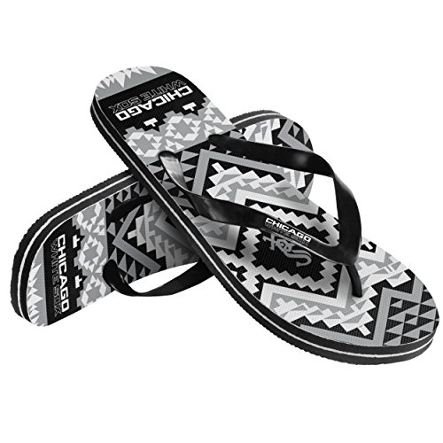 Forever Collectibles MLB Chicago White Sox Women's Aztec Flip Flop, X-Large, Black