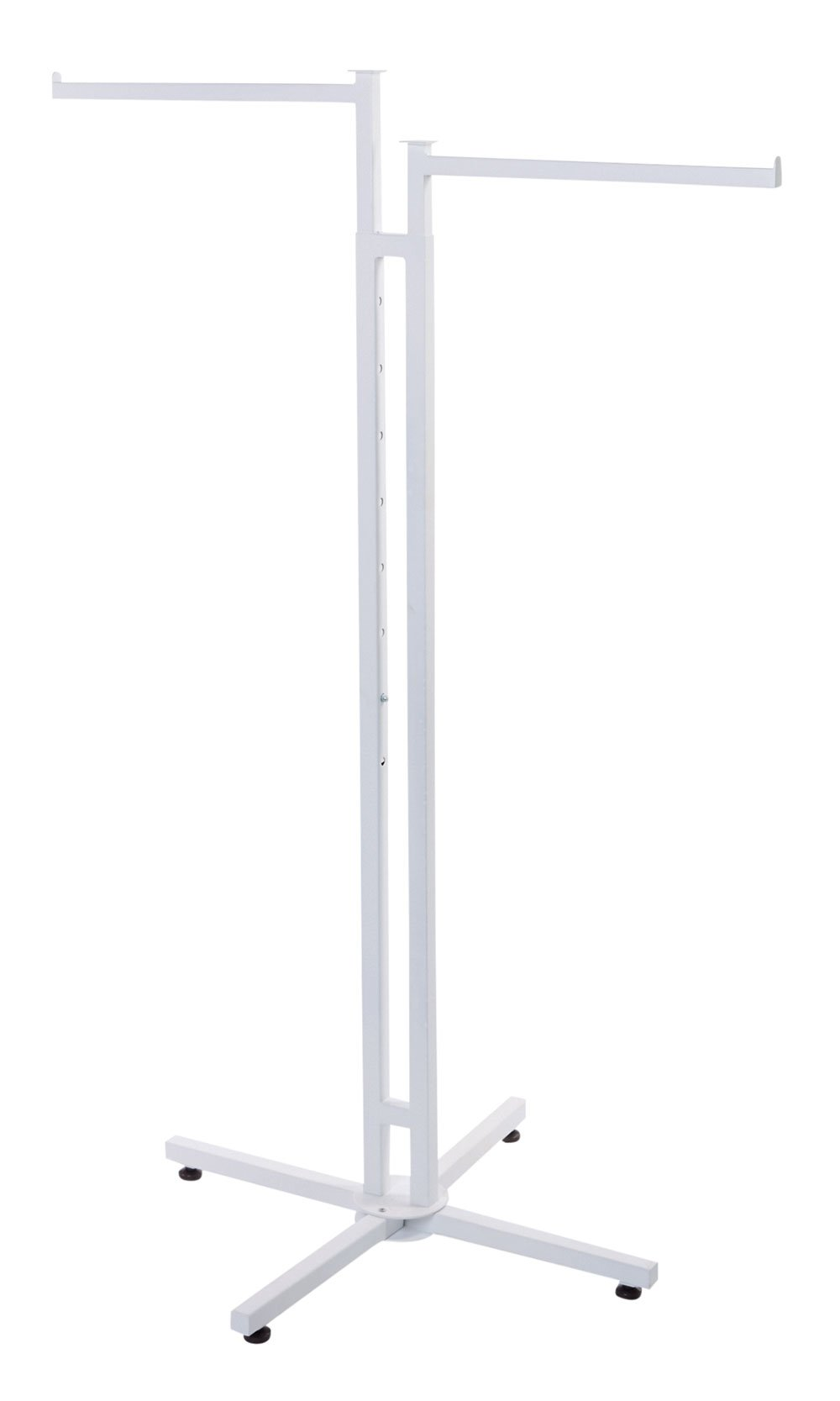 SSWBasics White 2-Way Clothing Rack with Straight Arms