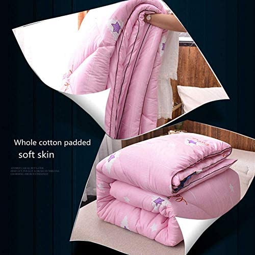 Pentagram Motif soie coton couette épaisse chaud Quilt de base pour les printemps et en automne Étudiant Dortoir seul hiver Quilt Quilt cadeau,150 * 200cm