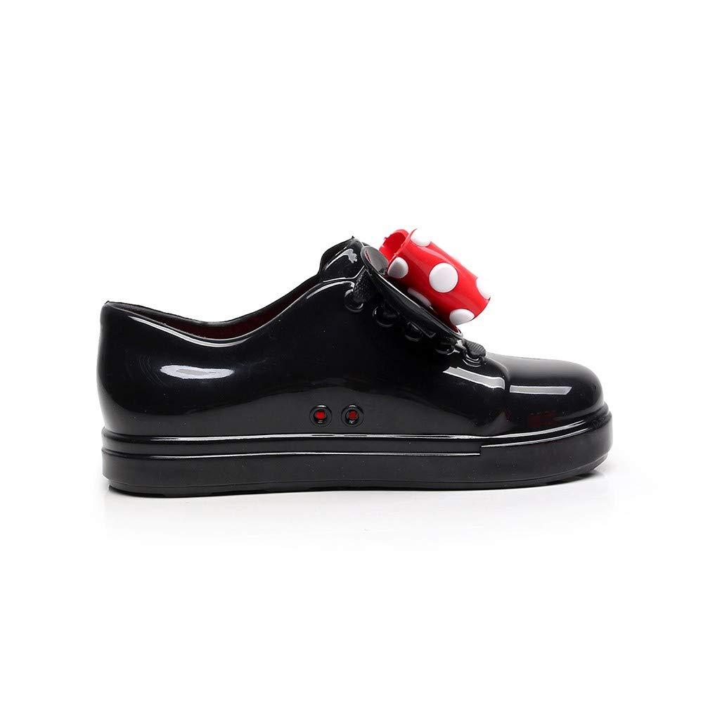 wwffoo Children Waterproof Dot Bowknot Rubber Rain Boots Kids Infant Rain Shoes