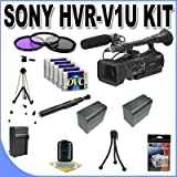Sony HVR-V1U HDV Camcorder + 3 Piece Multicoated Filter Kit + 5 Dv Tapes + Full Size Tripod + Master Works Producing DVD + Accessory Saver Kit & More!!!