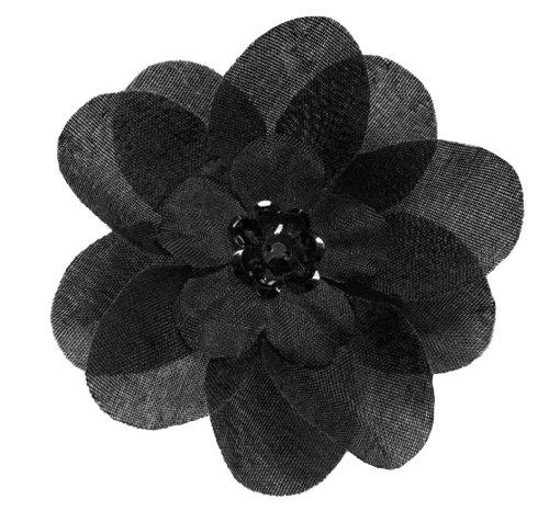 Cuteque International 6-Piece Embellished Flower Sequin Embellishment, Black