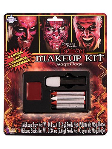 Forum Novelties 80339 Demons and Devil Make Up Kit, Standard, Red -