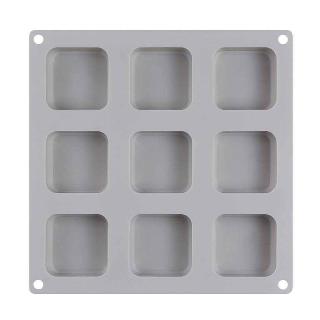 White Hunpta@ Soap Molds Silicone DIY Handmade Soap Making Cupcake Baking Moulds,DIY 9 Grid Silicone Soap Mold Handmade Soap Making Square